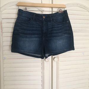 LC Lauren Conrad high waist denim shorts new Sz 10